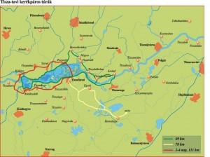 Tisza-ró kerékpáros térkep